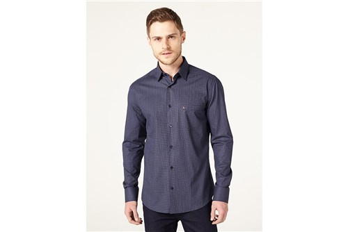 Camisa Menswear Square Point - Azul - XGG