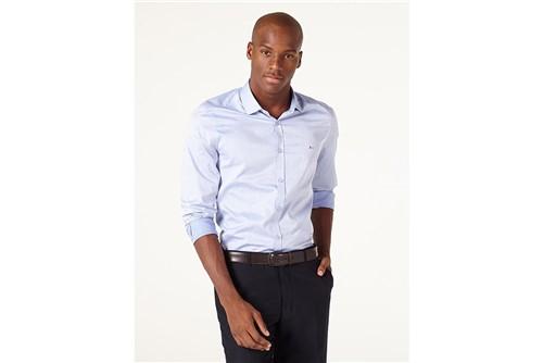 Camisa Menswear Super Slim Maquineta - Azul - GG