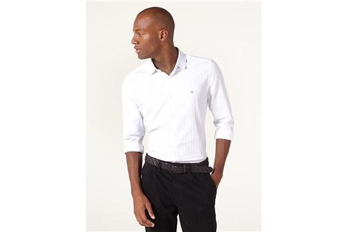 Camisa Menswear Super Slim Paris Check - Branco - XGG