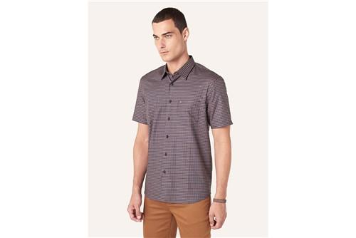 Camisa Menswear Xadrez com Bolso - Marinho - M