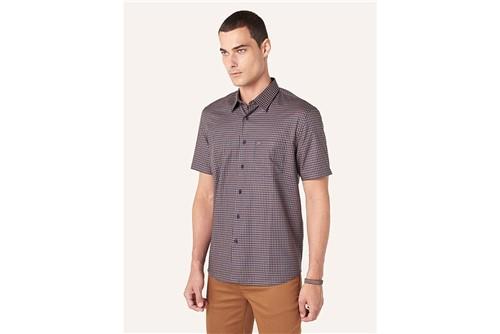 Camisa Menswear Xadrez com Bolso - Marinho - G