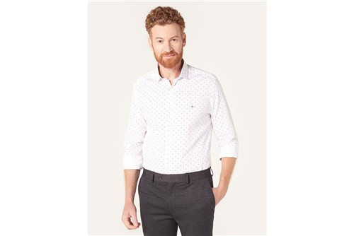 Camisa Menswear Zig - Branco - P