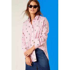 Camisa Mini Elementos Est Mini Elementos Rosa - 36