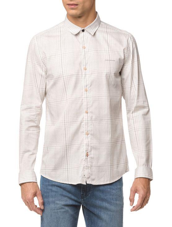 Camisa Ml Ckj Masc Xadrez Silk - Branco 2 - GGG