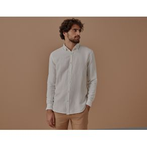 Camisa Ml Linho American Off White - G