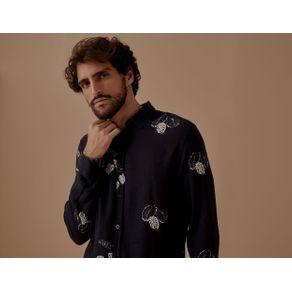 Camisa Ml Linho Oliveira Preto - M