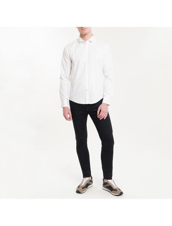 Camisa Ml Masc Regular Basica - Branco - P