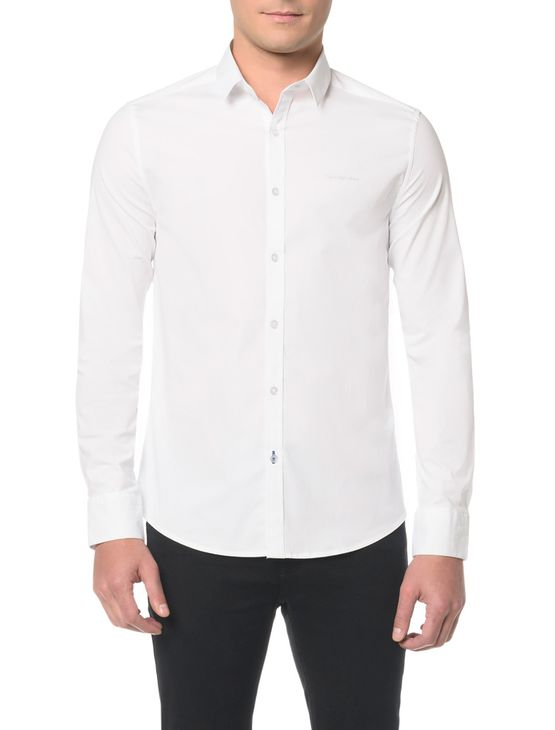 Camisa ML Masc Slim Básica - GGG