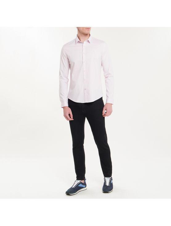 Camisa Ml Masc Slim Básica - Rosa Claro - P