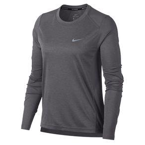 Camisa Nike Manga Longa Miler Cinza Masculino G