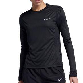 Camisa Nike Manga Longa Miler Preto Mulher G