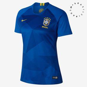 Camisa Nike Mc Cbf Azul 2018 Mulher GG