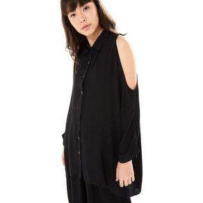Camisa Ombro Vazado Preto - G