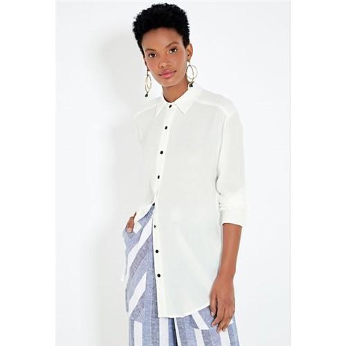 Camisa Oversize Botão Preto OFF WHITE/M