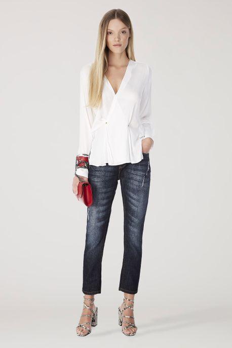 Camisa Paloma Jacquard Off White - 36