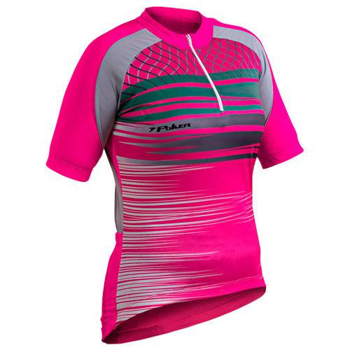 Camisa Poker Ciclista Feminina Ziper Paltina