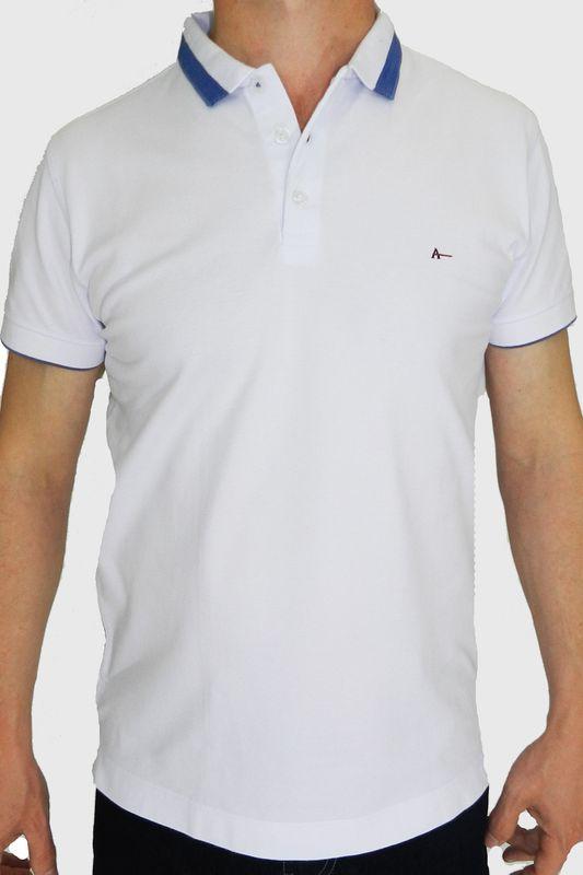 Camisa Polo Aramis Slim Básica Branca Tam. M