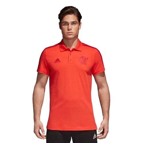 Camisa Polo Flamengo 3S Vermelha Adidas 2018 GG - VERMELHA