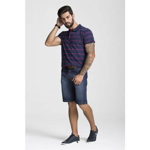 Camisa Polo Malha Listras - Tam G