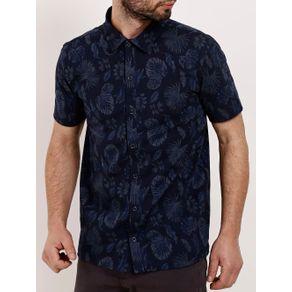 Camisa Polo Manga Curta Masculina - Azul Marinho G