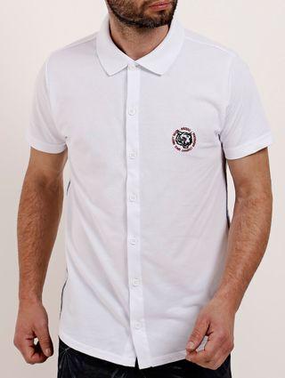 Camisa Polo Manga Curta Masculina Branco
