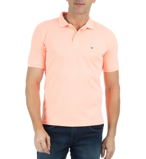 Camisa Polo Masculina Laranja Lisa - M