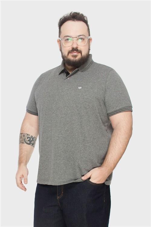Camisa Polo Plus Size Grafite-48/50