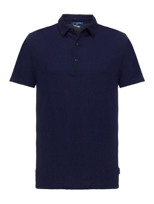 Camisa Polo Premium Pima Azul Marinho Tamanho PP