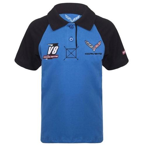 Camisa Polo Sprint Infantil Corvette Gm Azul/preto 2 Anos 11483