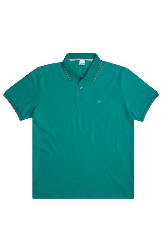 Camisa Polo Tradicional Piquê Turquesa - G