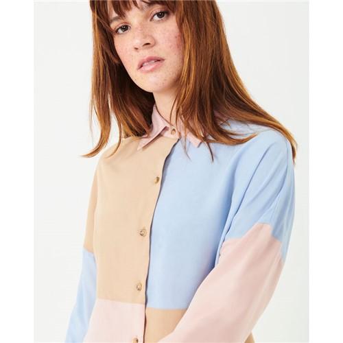 Camisa Recorte Azul PP