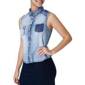 Camisa Regata Feminina Azul G