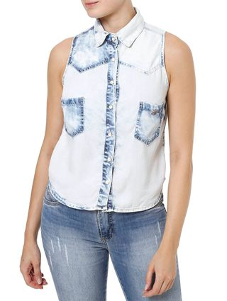Camisa Regata Feminina Azul