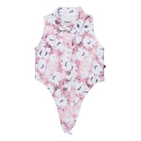 Camisa Regata Infantil para Menina - Rosa 10