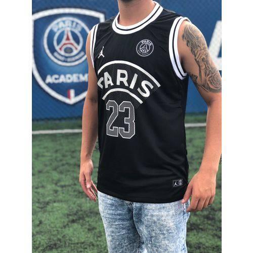 Camisa Regata Paris Saint Germain Psg Jordan Preto 2018/19 Original Lançamento Tamanho M