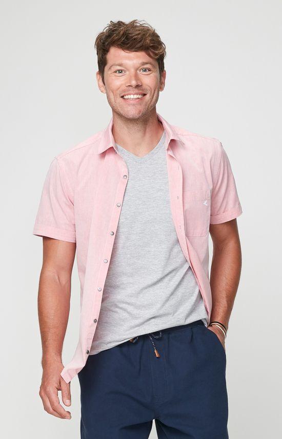 Camisa Slim Bordado Malwee Rosa - P