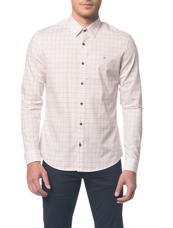 Camisa Slim Geneva Tecido Exclusivo - Rosa Claro - 2