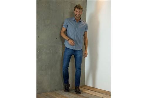 Camisa Slim Jeanswear Composê - Marinho - M