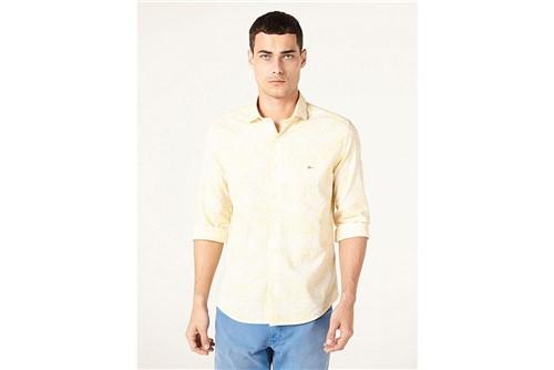 Camisa Slim Jeanswear Floral Degradê - Amarelo - P