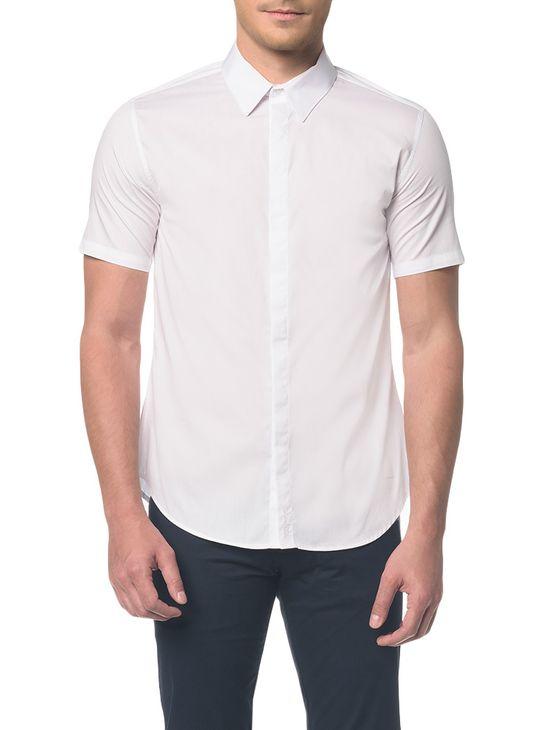 Camisa Slim Mc Sport Vista Embutida - 2