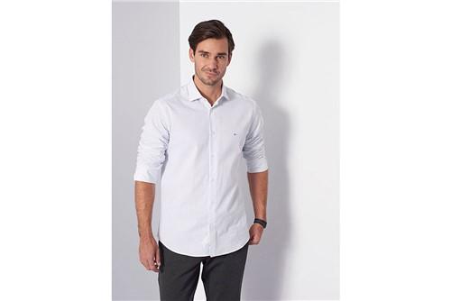 Camisa Slim Menswear Xadrez Pois - Branco - P