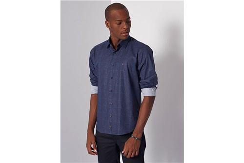Camisa Slim Night Tela Dark Blue - Marinho - P