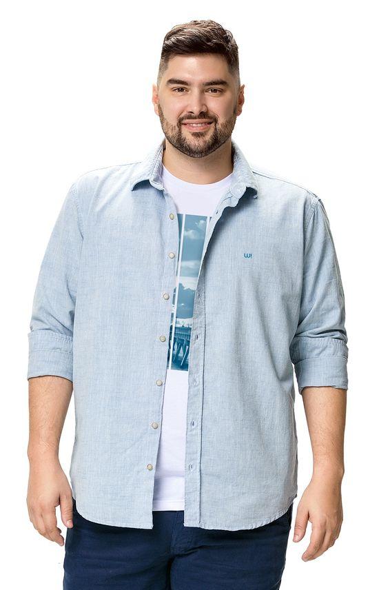 Camisa Slim Wee! Azul Claro - P