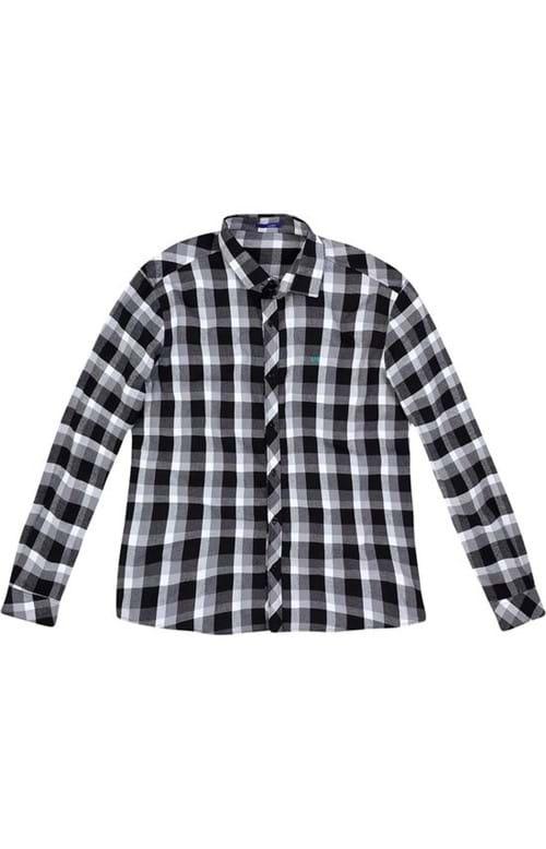 Camisa Slim Xadrez Wee! Preto - M