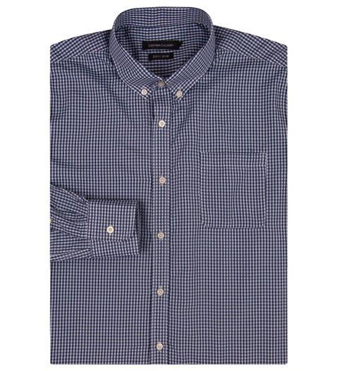 Camisa Social Masculina Azul Marinho Xadrez - 2