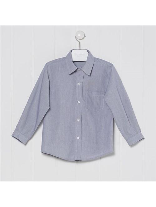 Camisa Social Millerighe Azul Tamanho 6
