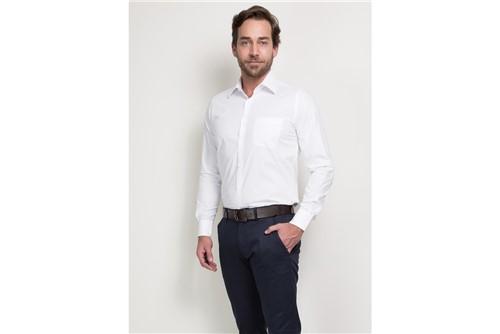 Camisa Social Super Slim Colarinho Tradicional - Branco - 41