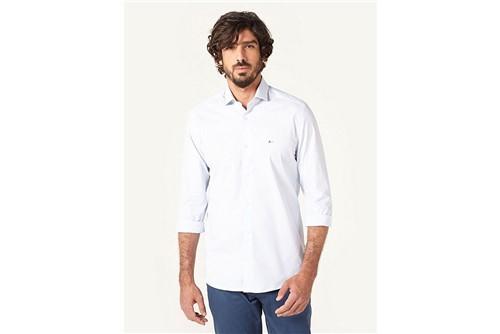 Camisa Social Super Slim Xadrez - Azul - 39