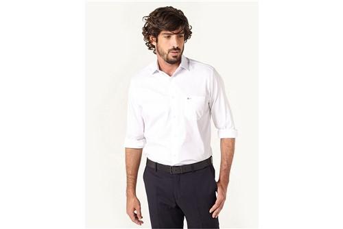 Camisa Social Tricoline Maquinetado - Branco - 38