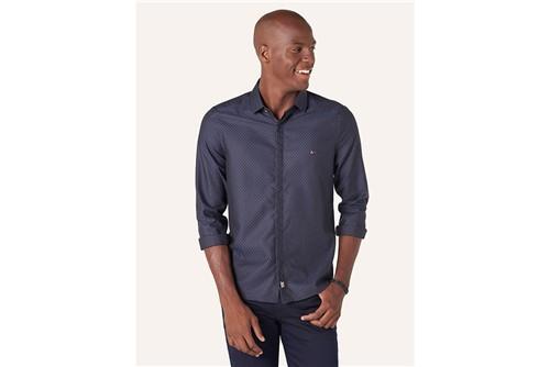 Camisa Super Night Jacquard Fio 70 - Azul - P